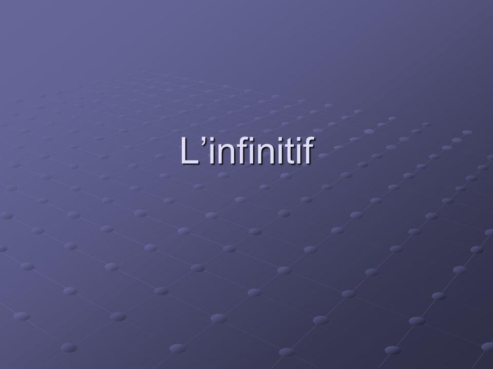 Linfinitif