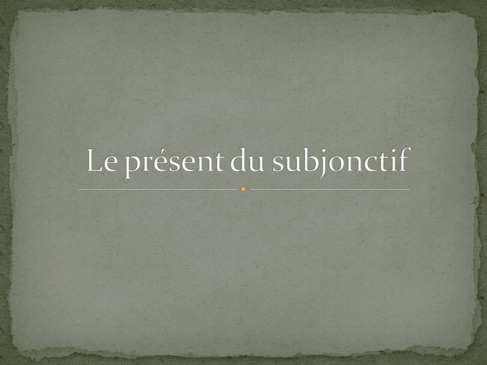 On rencontre quatre emplois courants: Le subjonctif seul Le subjonctif après certains verbes Le subjonctif après certaines conjonctions Le subjonctif après un pronom relatif