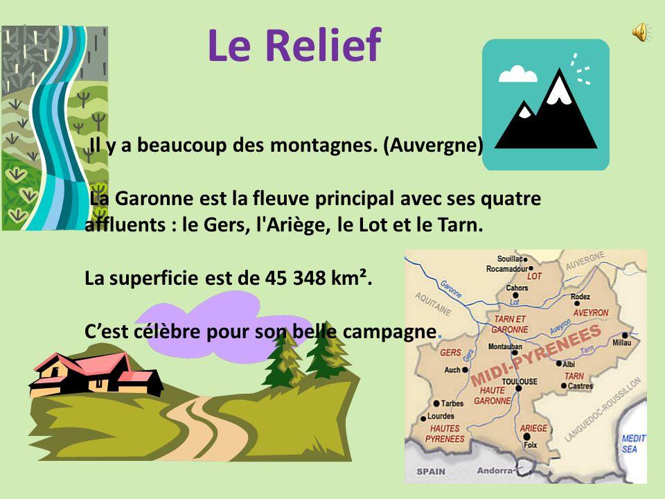 La Position Géographique Location: Les Midi-Pyrénées est au sud de France. Cest à cote dAquitaine. Cest une région principalement rurale. Au Nord, Il