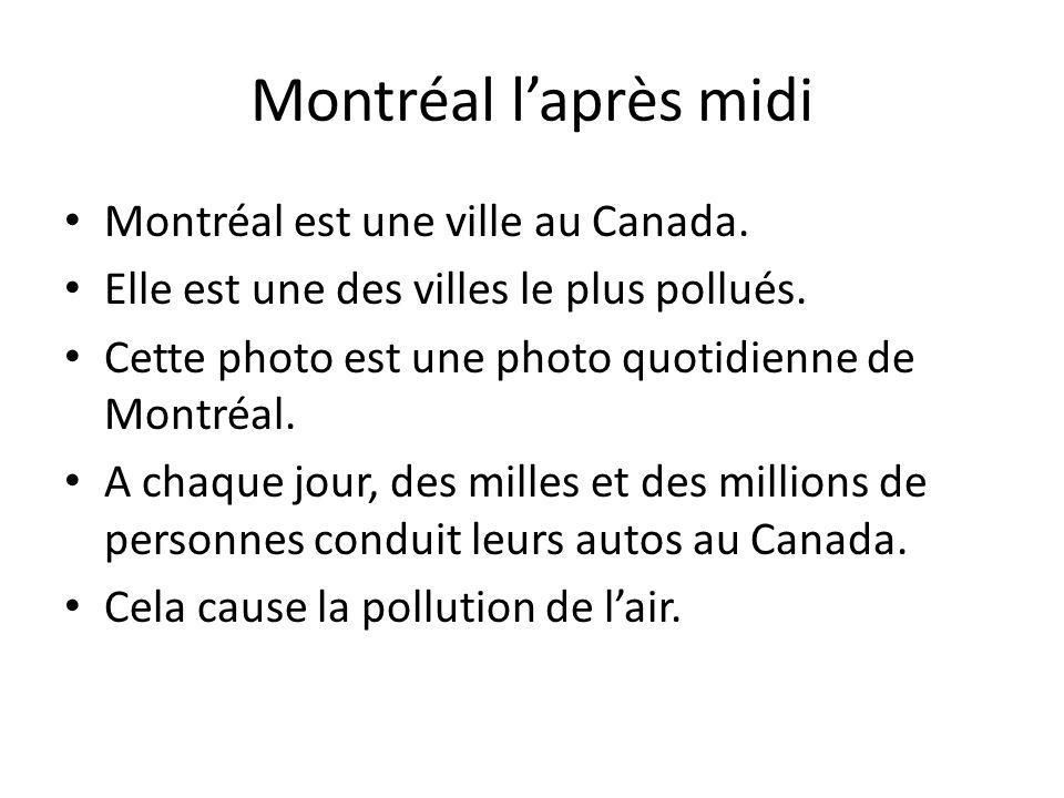 Montréal laprès midi Montréal est une ville au Canada. Elle est une des villes le plus pollués. Cette photo est une photo quotidienne de Montréal. A c