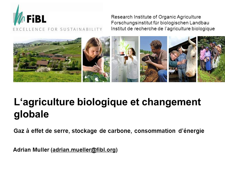 www.fibl.org 5340 In addition: Carbon sequestration potential Selon Cool Farming, Bellarby et al.