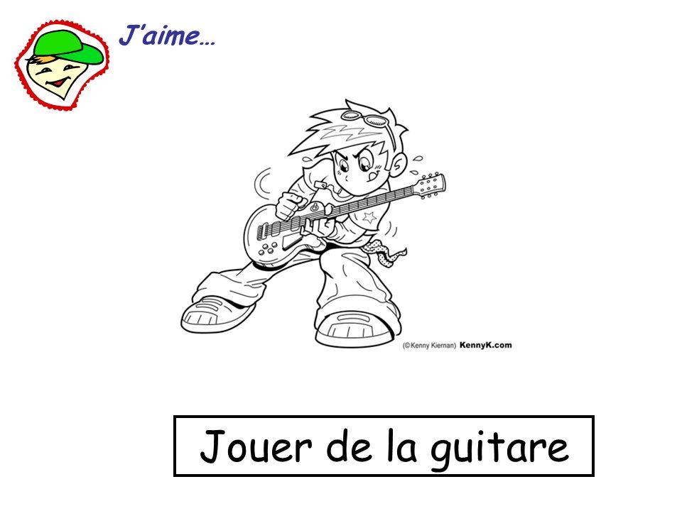 Jouer de la guitare Jaime…