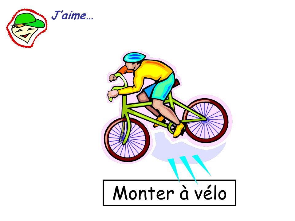 Monter à vélo Jaime…