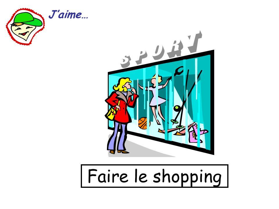 Faire le shopping Jaime…