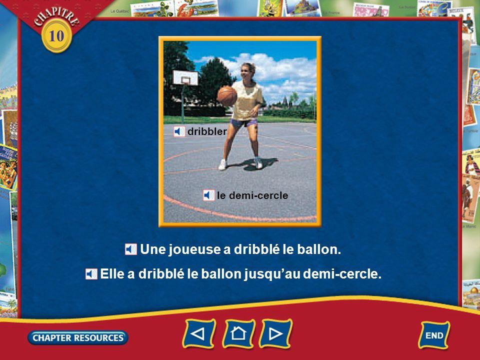 10 Dautres sports déquipe Le basket(-ball) un joueur de basket lancer le panier Le joueur a lancé le ballon dans le panier.