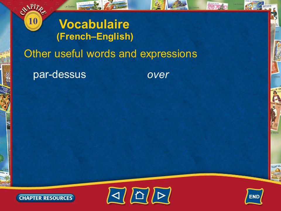 10 Expressing the past last week la semaine dernière une fois lannée dernière last year one time Vocabulaire (French–English)