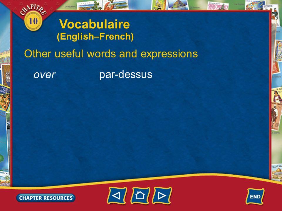 10 Expressing the past last week la semaine dernière une fois lannée dernière last year one time Vocabulaire (English–French)