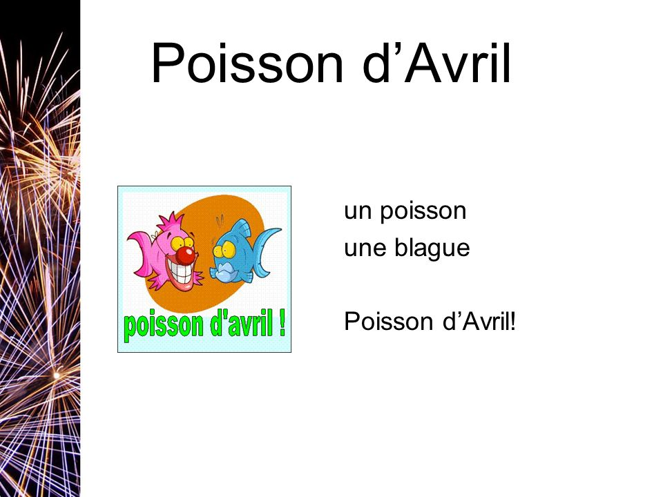 Poisson dAvril un poisson une blague Poisson dAvril!