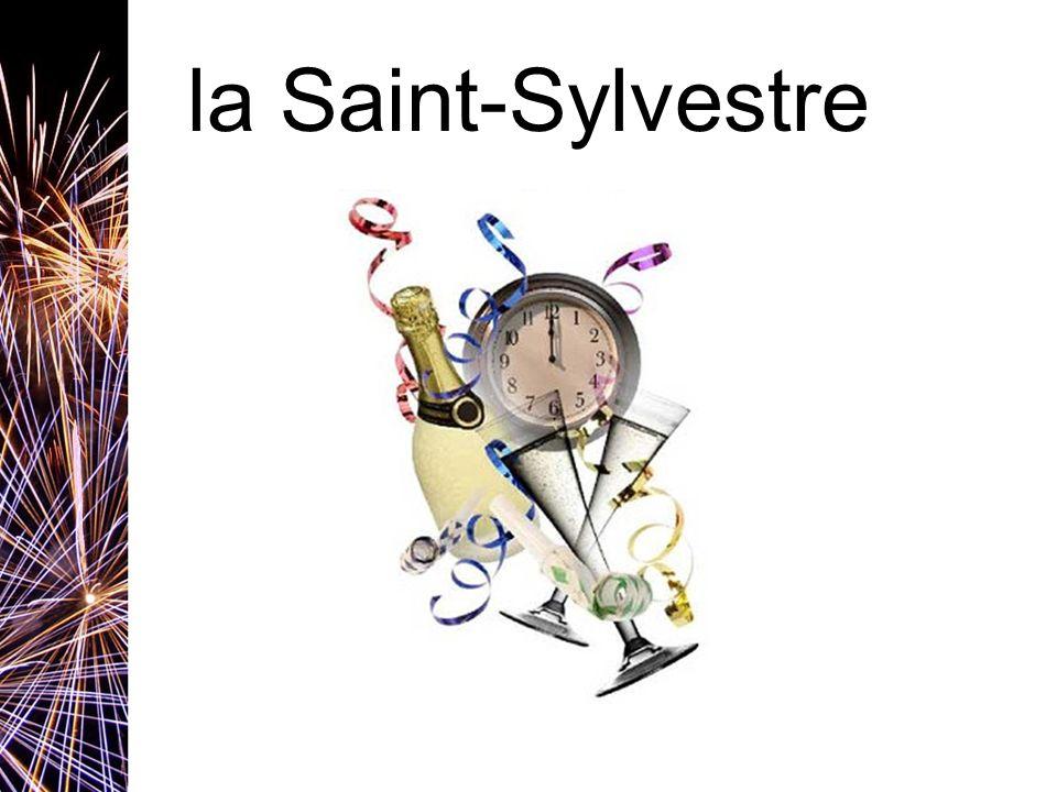 la Saint-Sylvestre