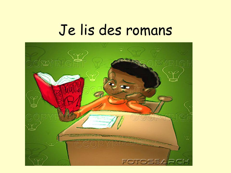 Je lis des romans