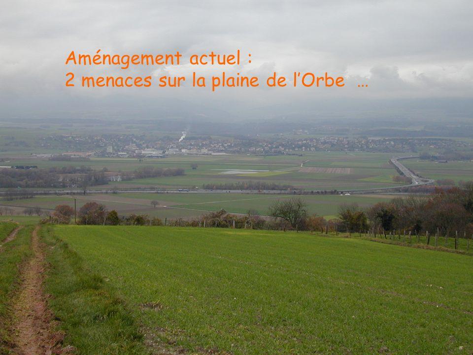 Céline Müller, ENAC-ISTE, LPE. 2004 Aménagement actuel : 2 menaces sur la plaine de lOrbe …