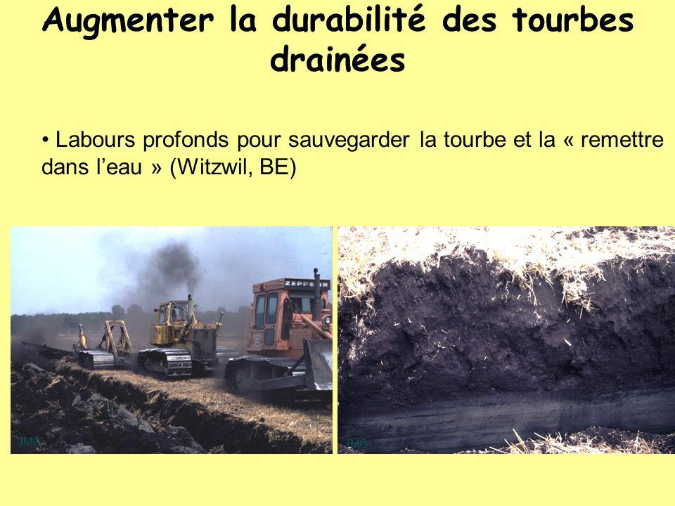 Labours profonds pour sauvegarder la tourbe et la « remettre dans leau » (Witzwil, BE) JMG Augmenter la durabilité des tourbes drainées