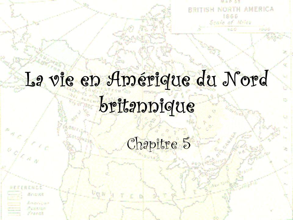 La vie en Amérique du Nord britannique Chapitre 5