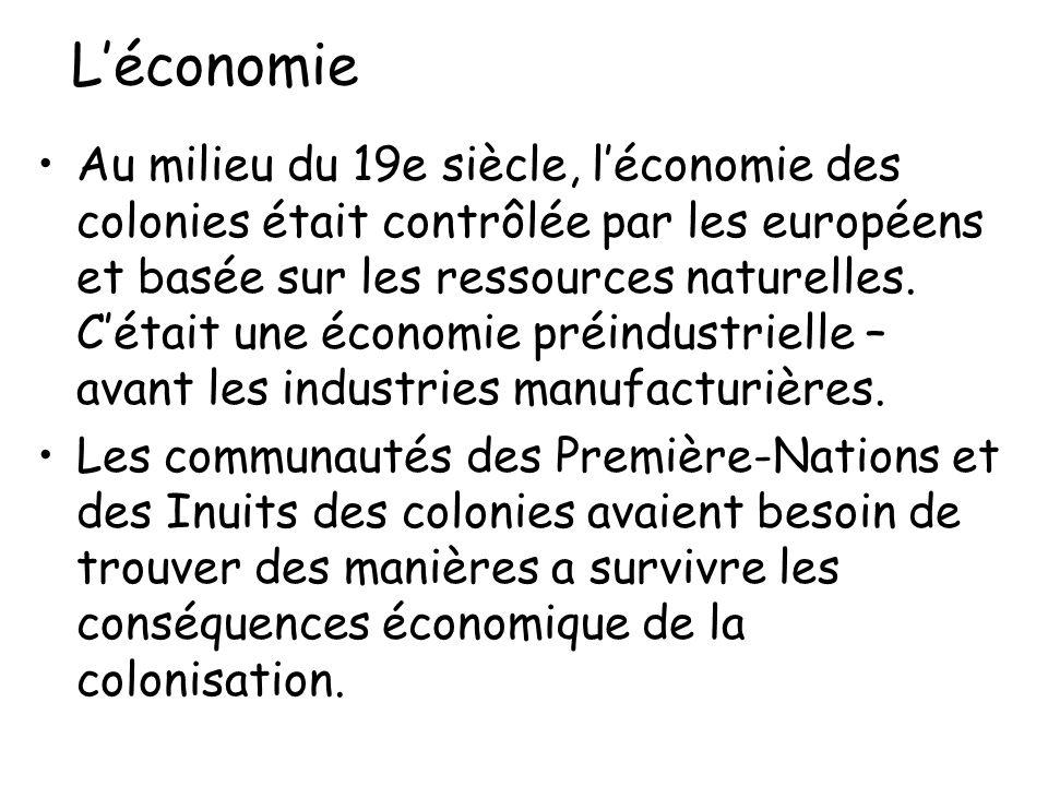Léconomie Au milieu du 19e siècle, léconomie des colonies était contrôlée par les européens et basée sur les ressources naturelles. Cétait une économi