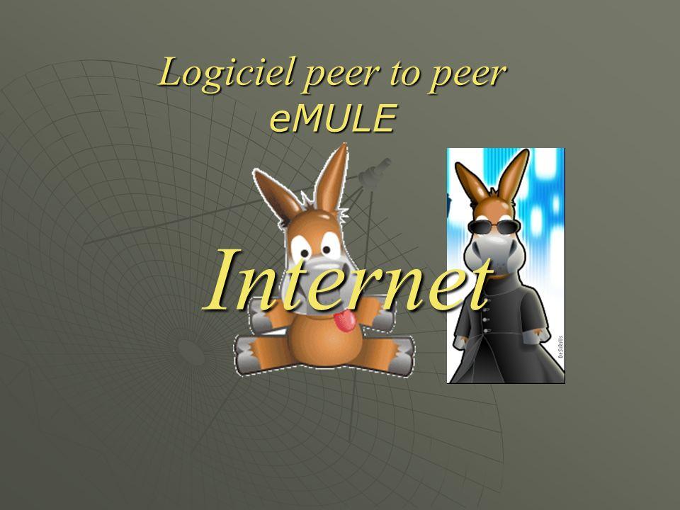 Logiciel peer to peer eMULE Internet