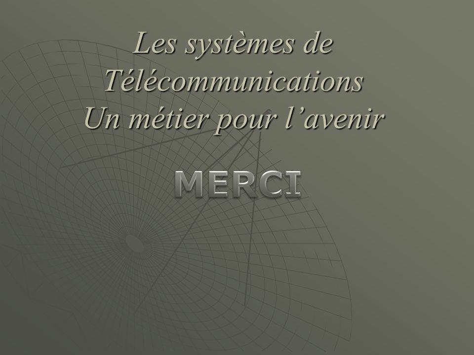 Les systèmes de Télécommunications Un métier pour lavenir