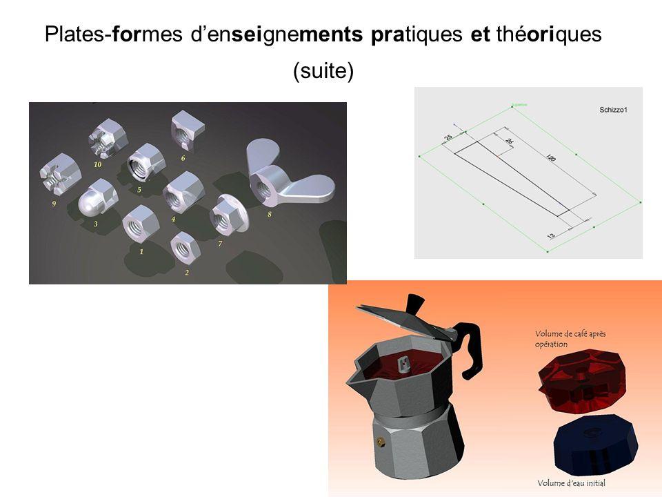 Plates-formes denseignements pratiques et théoriques (suite)
