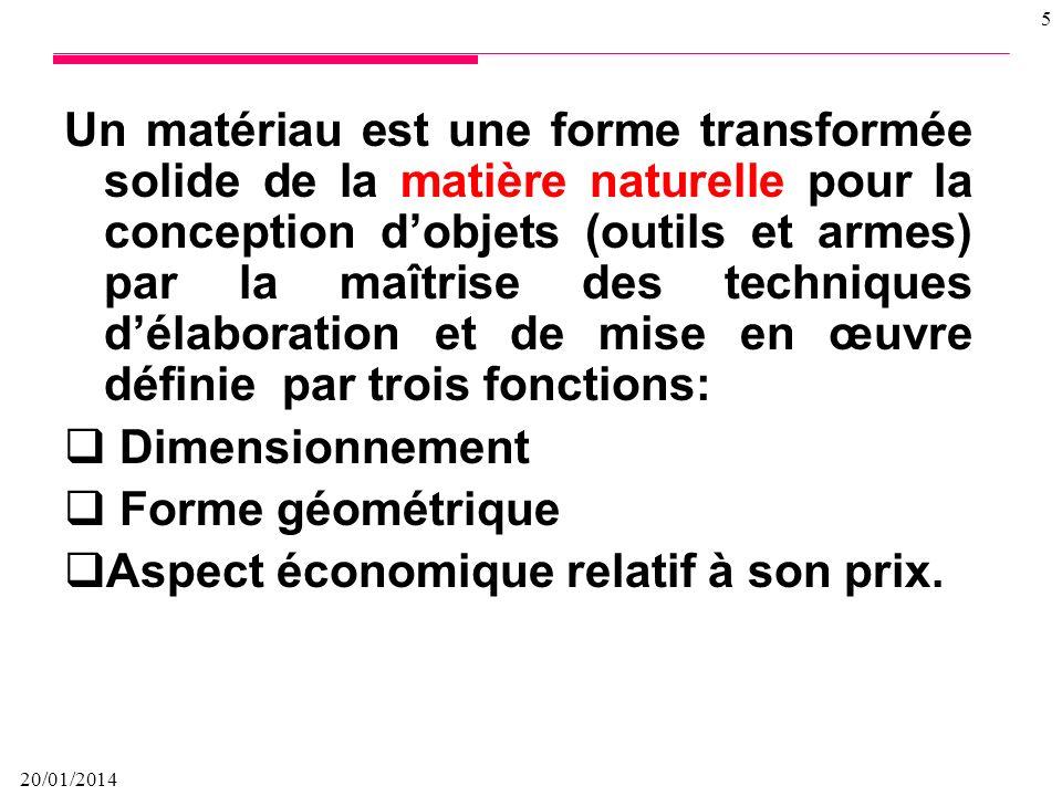 20/01/2014 4 Sont létude des relations entre la structure (organisation atomique et moléculaire) et les propriétés des différents matériaux dans leur