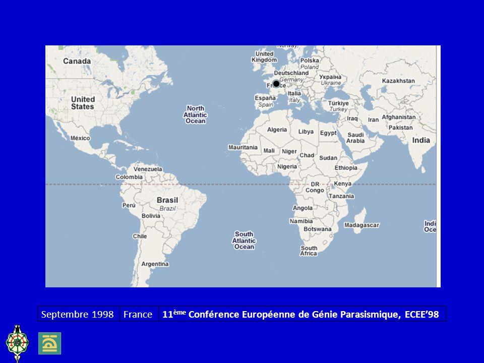 Septembre 1998France11 ème Conférence Européenne de Génie Parasismique, ECEE98