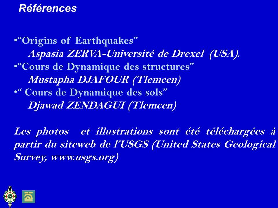 Origins of Earthquakes Aspasia ZERVA-Université de Drexel (USA).