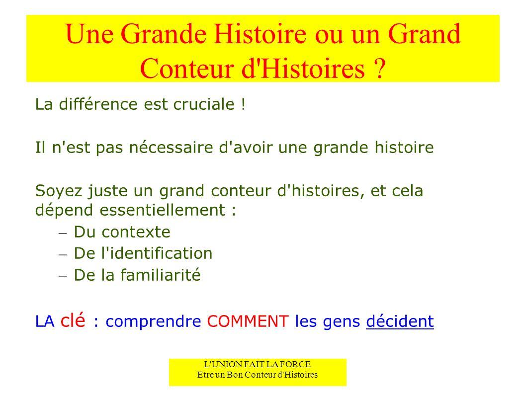 Une Grande Histoire ou un Grand Conteur d Histoires .