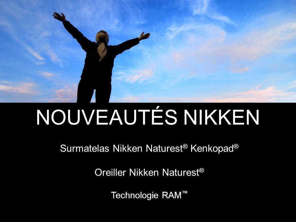 NOUVEAUTÉS NIKKEN Surmatelas Nikken Naturest ® Kenkopad ® Oreiller Nikken Naturest ® Technologie RAM