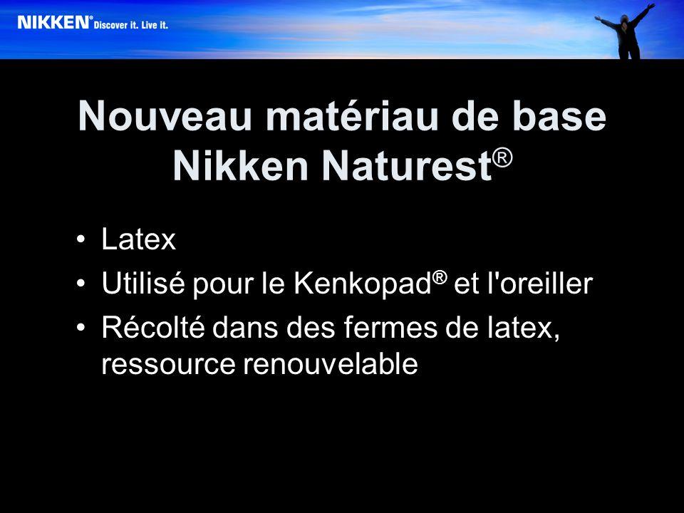 Nouveau matériau de base Nikken Naturest ® Latex Utilisé pour le Kenkopad ® et l oreiller Récolté dans des fermes de latex, ressource renouvelable