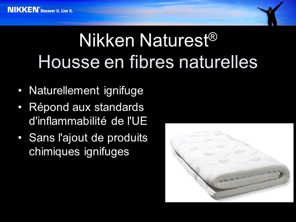 Nikken Naturest ® Housse en fibres naturelles Naturellement ignifuge Répond aux standards d inflammabilité de l UE Sans l ajout de produits chimiques ignifuges