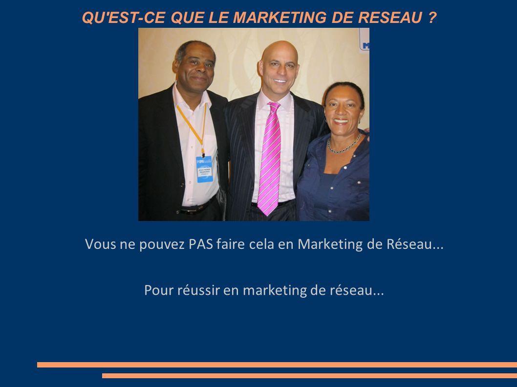 QU'EST-CE QUE LE MARKETING DE RESEAU ? Vous ne pouvez PAS faire cela en Marketing de Réseau...