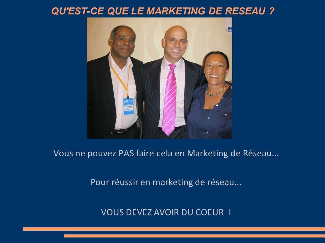 QU'EST-CE QUE LE MARKETING DE RESEAU ? Vous ne pouvez PAS faire cela en Marketing de Réseau... Pour réussir en marketing de réseau...