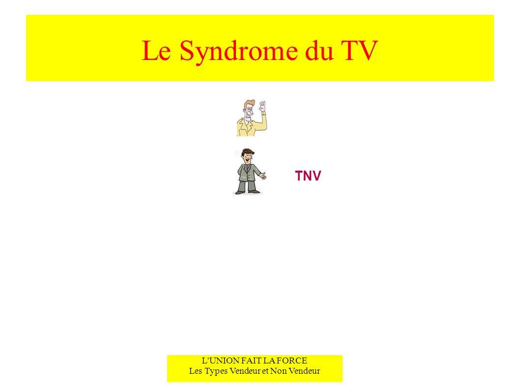 Le Syndrome du TV L UNION FAIT LA FORCE Les Types Vendeur et Non Vendeur TNV