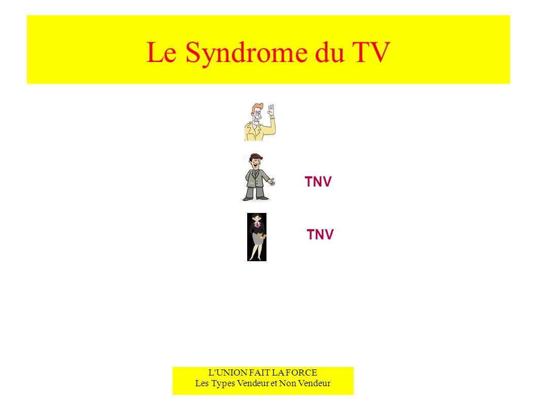 Le Syndrome du TV L'UNION FAIT LA FORCE Les Types Vendeur et Non Vendeur TNV