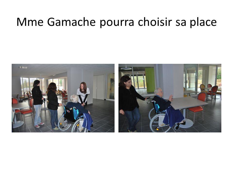 Mme Gamache pourra choisir sa place