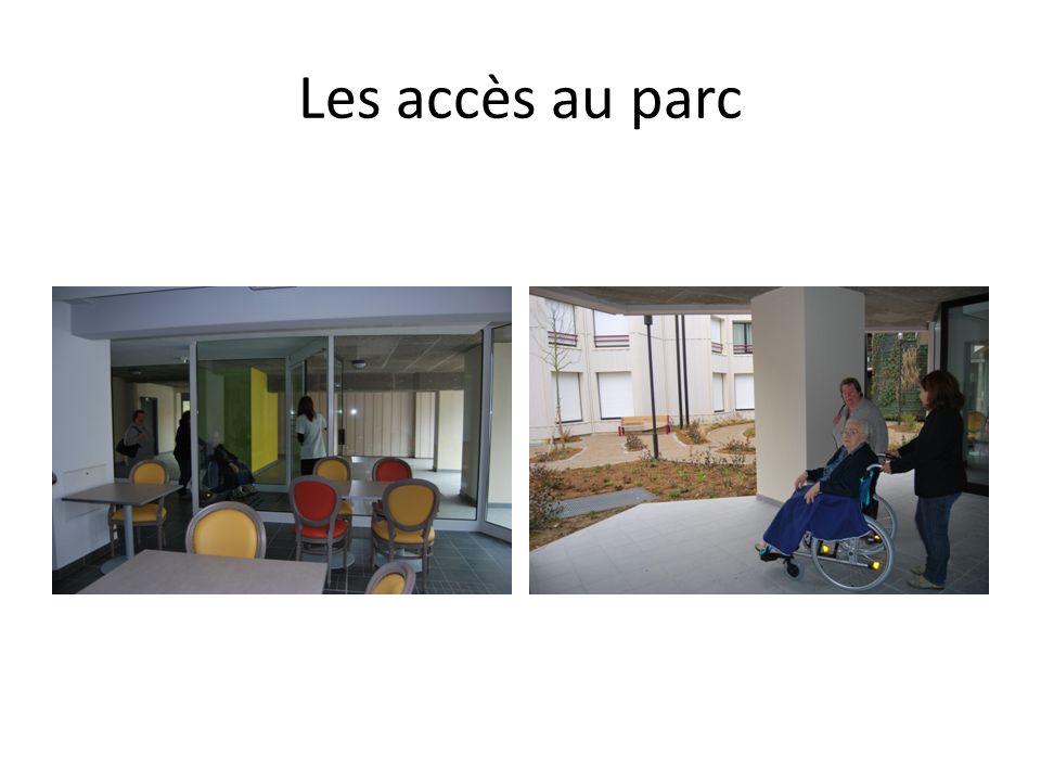 Les accès au parc