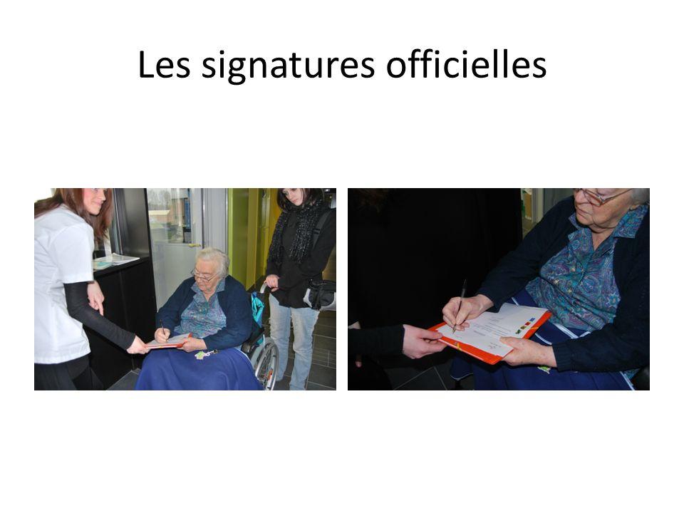 Les signatures officielles
