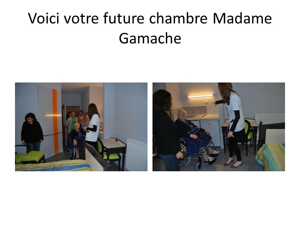 Voici votre future chambre Madame Gamache