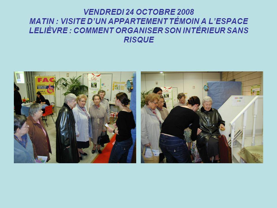 VENDREDI 24 OCTOBRE 2008 MATIN : VISITE DUN APPARTEMENT TÉMOIN A LESPACE LELIÈVRE : COMMENT ORGANISER SON INTÉRIEUR SANS RISQUE