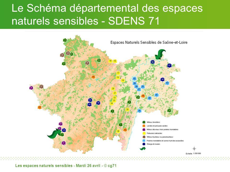 Les espaces naturels sensibles - Mardi 26 avril - © cg71 Le Schéma départemental des espaces naturels sensibles - SDENS 71