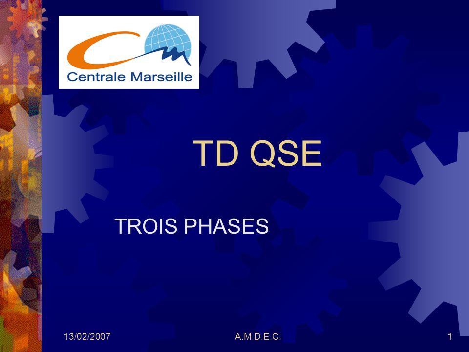 13/02/2007A.M.D.E.C.1 TD QSE TROIS PHASES