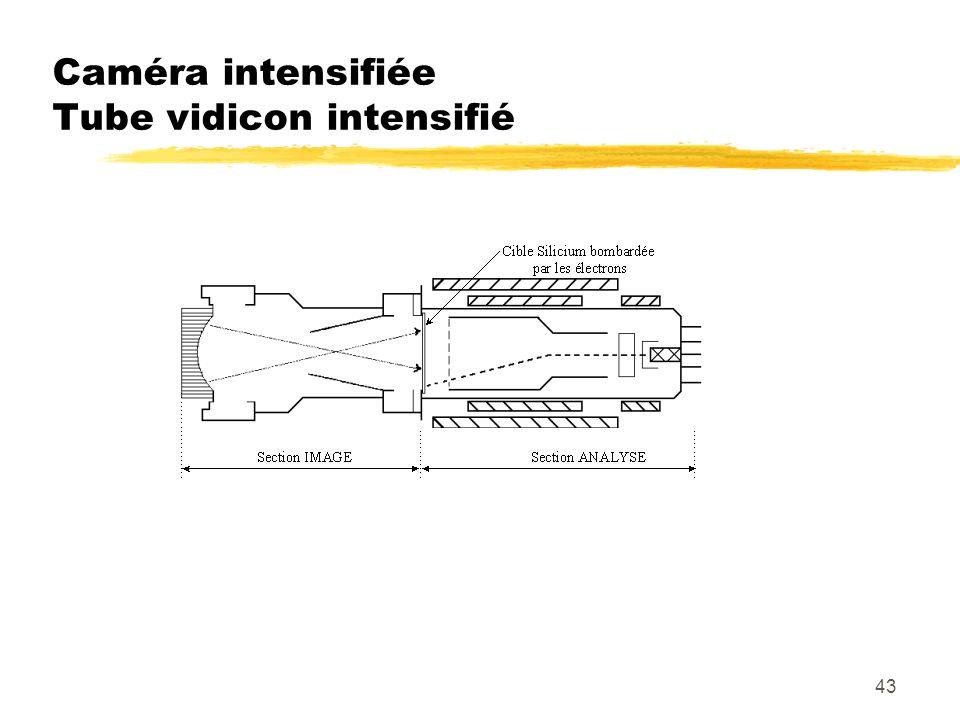 43 Caméra intensifiée Tube vidicon intensifié
