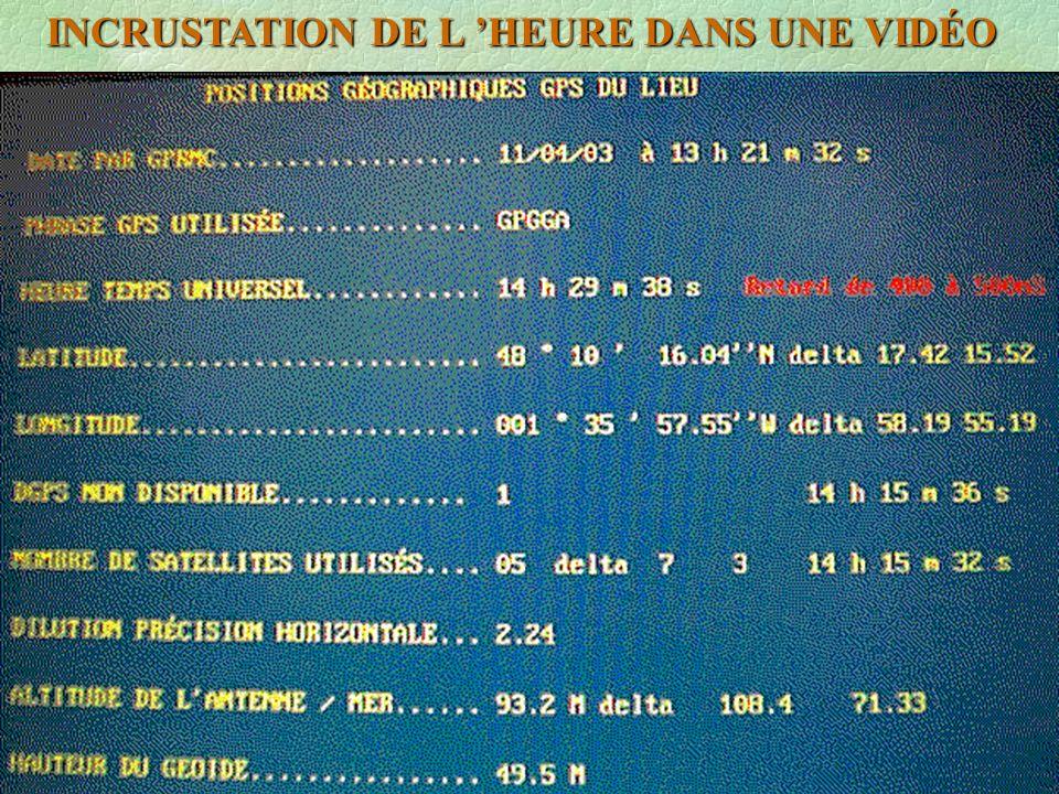 INCRUSTATION DE L HEURE DANS UNE VIDÉO