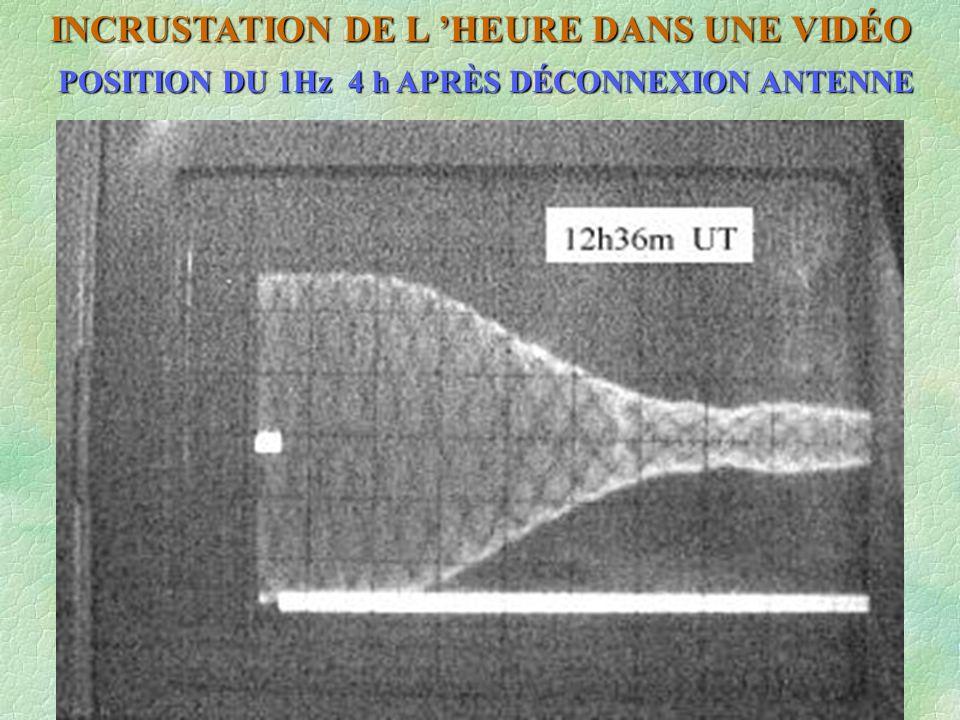 INCRUSTATION DE L HEURE DANS UNE VIDÉO POSITION DU 1Hz 4 h APRÈS DÉCONNEXION ANTENNE