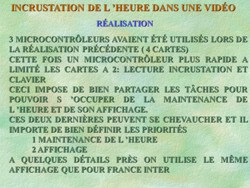RÉALISATION 3 MICROCONTRÔLEURS AVAIENT ÉTÉ UTILISÉS LORS DE LA RÉALISATION PRÉCÉDENTE ( 4 CARTES) CETTE FOIS UN MICROCONTRÔLEUR PLUS RAPIDE A LIMITÉ L