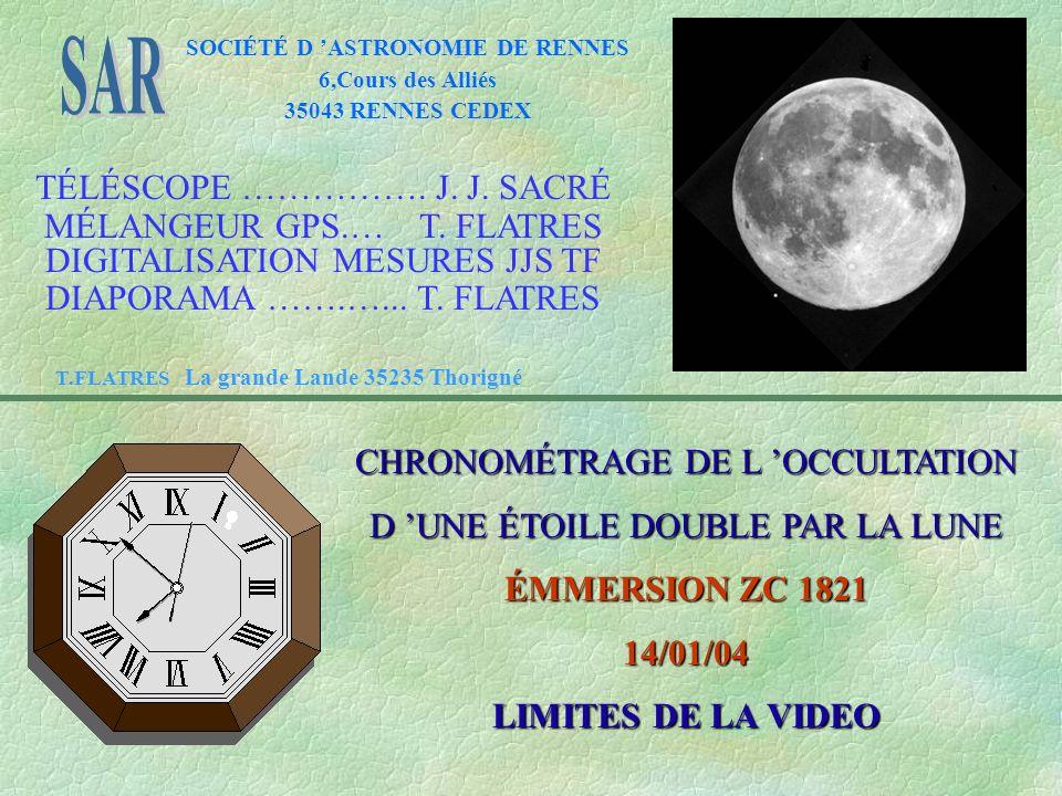 SOCIÉTÉ D ASTRONOMIE DE RENNES 6,Cours des Alliés 35043 RENNES CEDEX TÉLÉSCOPE …………….