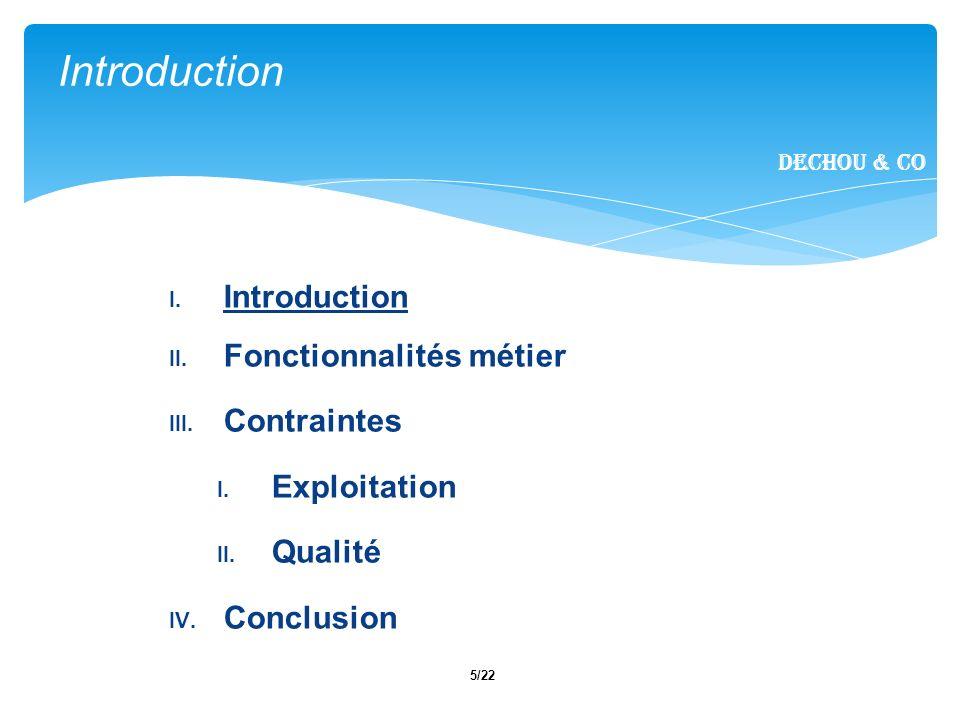 6/22 Objectif : - Assurer le fonctionnement dune batterie dascenseur - Optimiser le trafic - Interface graphique illustrant les mouvements dascenseurs Introduction Dechou & CO