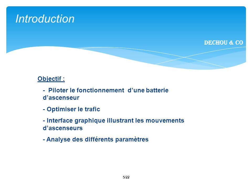 6/22 I.Introduction II. Fonctionnalités métier III.