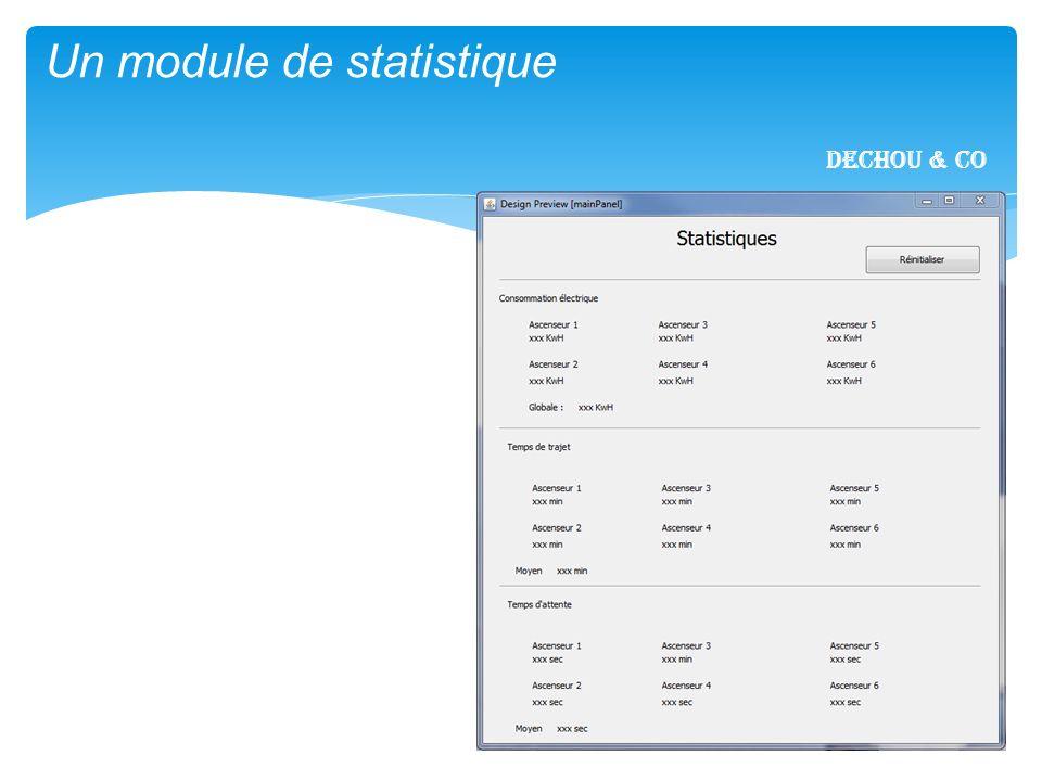 1/17 Un module de statistique Dechou & CO