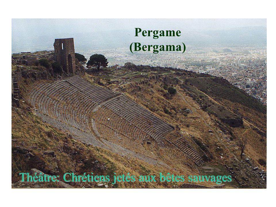 Pergame (Bergama) Théâtre: Chrétiens jetés aux bêtes sauvages