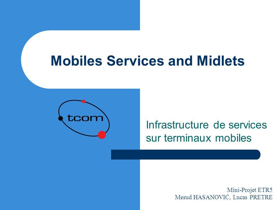 Mobiles Services and Midlets Infrastructure de services sur terminaux mobiles Mini-Projet ETR5 Mesud HASANOVIĆ, Lucas PRETRE