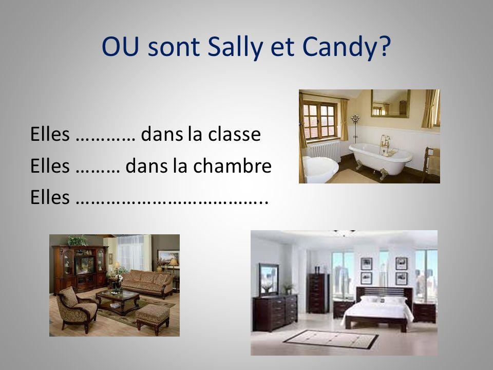 OU sont Sally et Candy Elles ………… dans la classe Elles ……… dans la chambre Elles ………………………………..